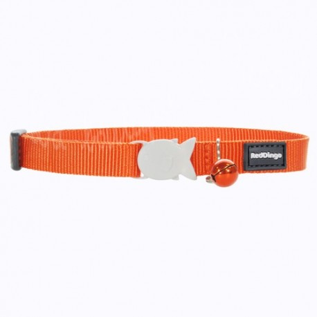 Collier Red Dingo uni orange pour chat