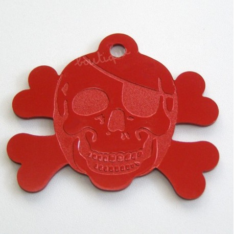 Médaillon Forme Pirate Rouge Taille Moyenne