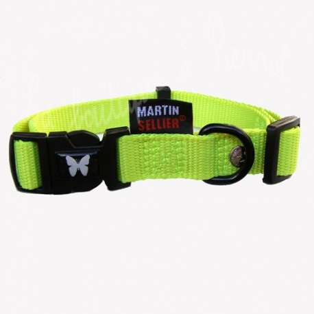 Collier vert anis Martin Sellier pour chien