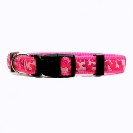 Collier chien Collection Camouflage rose