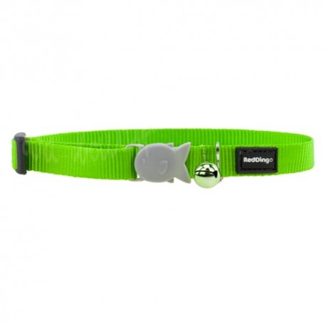 Collier vert citron uni pour chat Red Dingo