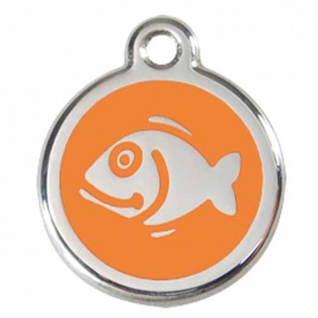 Médaillon pour chat style orange avec poisson RED DINGO