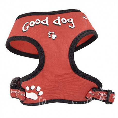 Harnais tee shirt rouge Good Dog pour chien