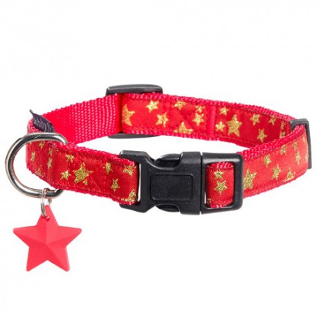 Collier Bobby Merry rouge pour chien