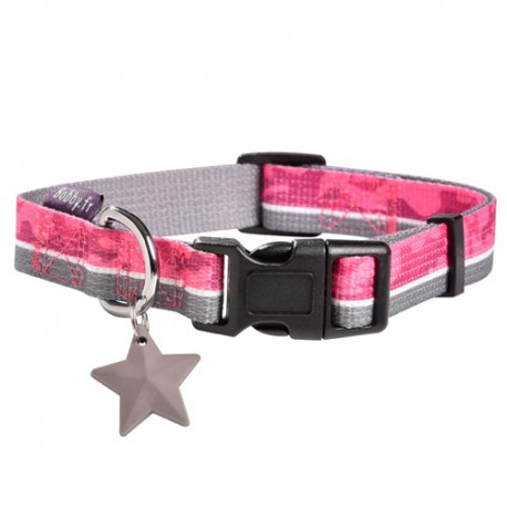 Collier Bobby norm rose pour chien