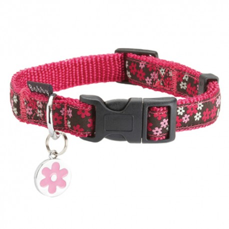 Collier Bobby flower rose pour chien