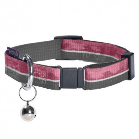 Collier pour grand chat Bobby Norm camouflage rose