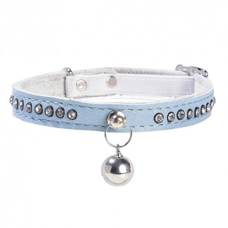 Collection strass Bobby pour chat, Eclat bleu