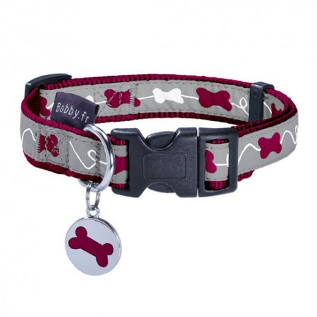 Collier pour chien Bobby gamme Kyrielle framboise
