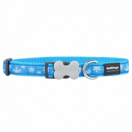 Collier pour chien Red Dingo Snowflake turquoise