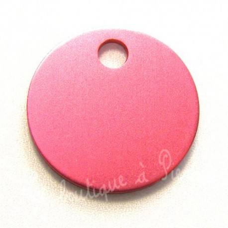 Collection médaille chien Rose ronde taille 32mm