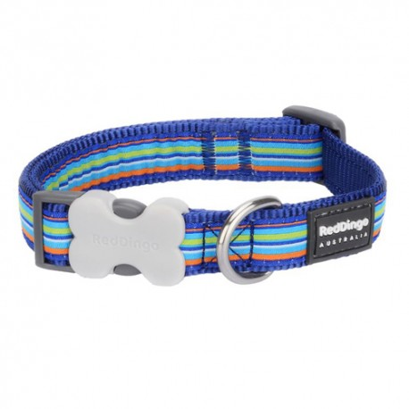 Collier pour chien Red Dingo Stripes Dog bleu navy