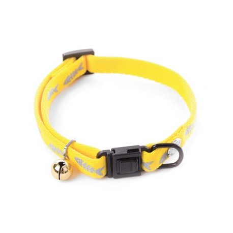 Collier pour chat Martin Sellier fluo fish jaune